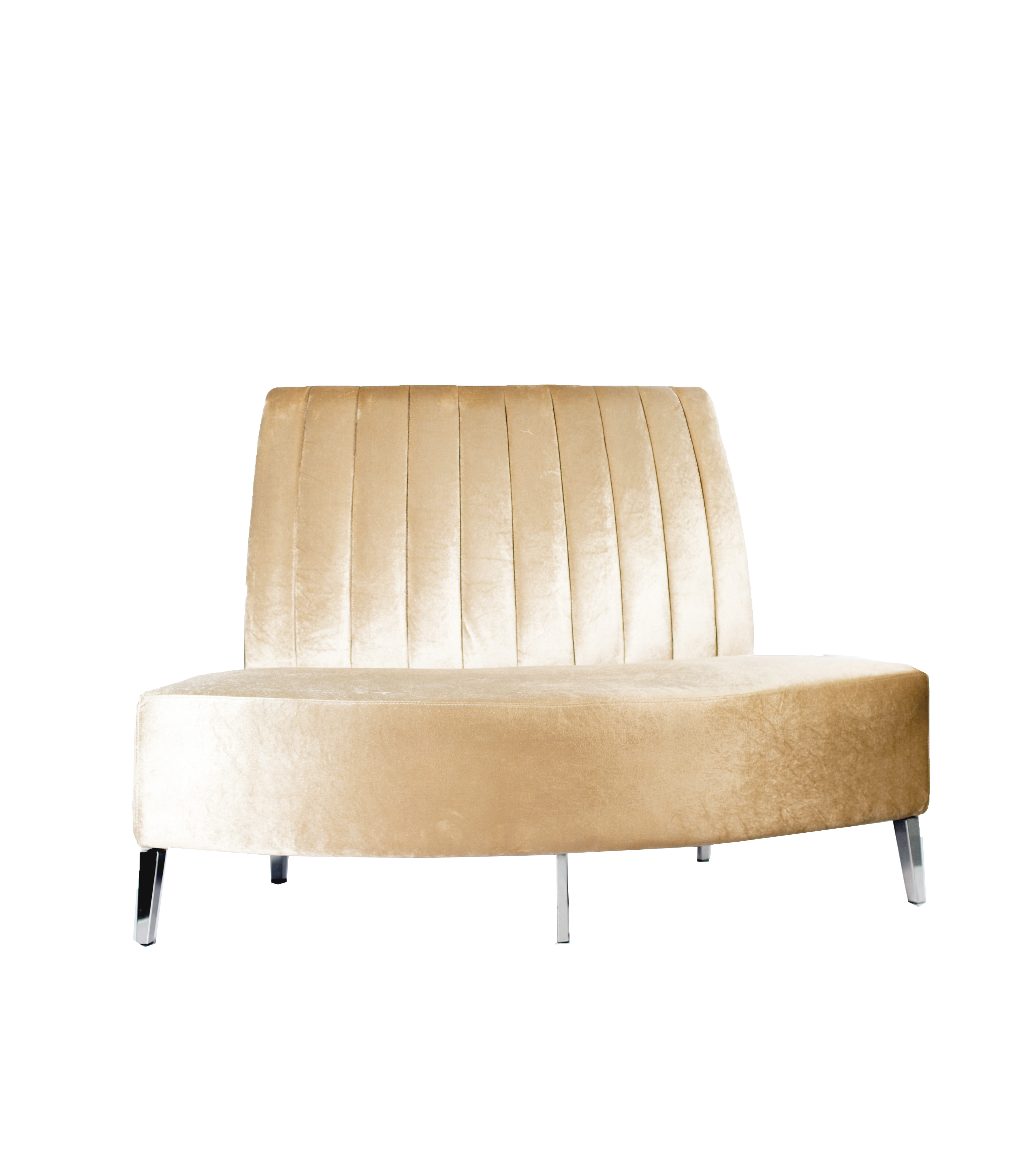 Magnificent Beatrice Outside Round Champagne Velvet Ncnpc Chair Design For Home Ncnpcorg